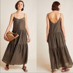 NWT Anthropologie Simone Silk Blend Maxi Dress